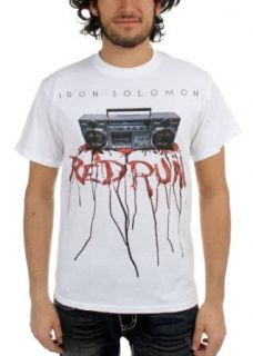 Iron Solomon   Mens Redrum T Shirt in White, Size Medium, Color White Clothing