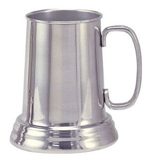 Bright Aluminum Tankard Beer Mug Clear Bottom