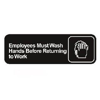 Employees Must Wash Hands Before Returning to Work Symbol Sign