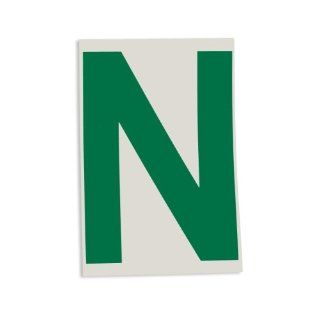 "Brady 121772 ToughStripe Die Cut Polyester Tape, Green Letter ""N"" Industrial Floor Warning Signs"