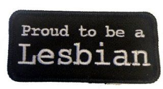 Proud to Be a Lesbian Name Tag Logo Black White Iron on Patch