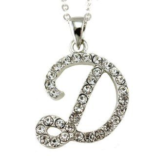 Initial Letter D Pendant Necklace Charm Ladies Teens Girls Women Fashion Jewelry Charm Jewelry