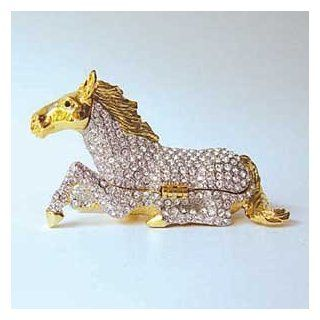 Crystal Horse Jewelry Box Jewelry