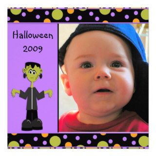Halloween Monster Photo Card Custom Invitation