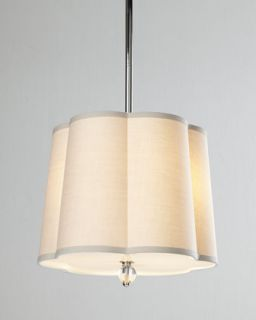 Large Scalloped Shade Pendant Light   Regina Andrew Design