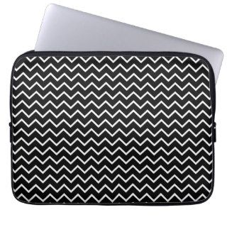Fun Black Chevron Zig Zag Pattern Laptop Sleeve