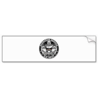 US Navy Submarine Service Skull.png Bumper Stickers