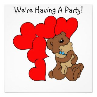 Bear Hugs  Birthday Greeting Card For Kids Invitations