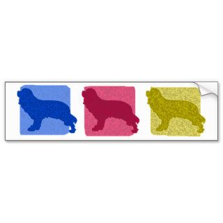 Colorful Cavalier King Charles Spaniel Silhouettes Bumper Sticker