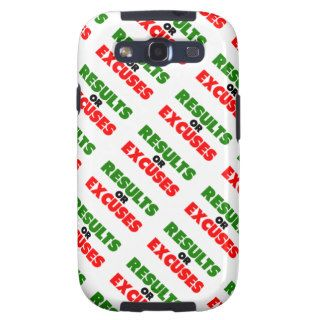 Results or Excuses  Fitness Quotes  Green Style Samsung Galaxy S3 Covers