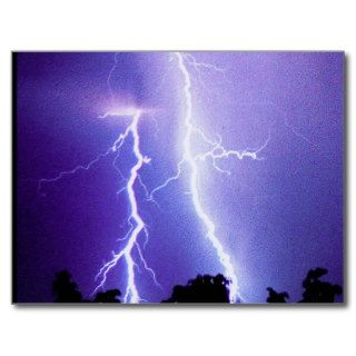 Lightning Storm Post Card