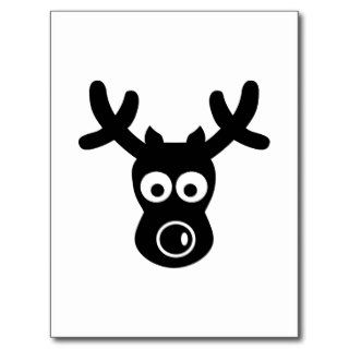 Funny reindeer face post card