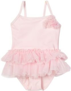 Little Me Baby girls Infant Tutu Swimsuit, Light Pink, 12 Months Clothing