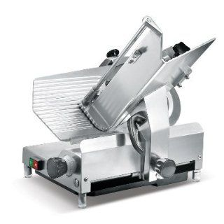 "Presto PS 12D Anodized Aluminum Meat Slicer, Belt Drive Transmission, 12"" Blade, 32 25/128"" Width x 17 1/2"" Height x 20 51/64"" Depth"