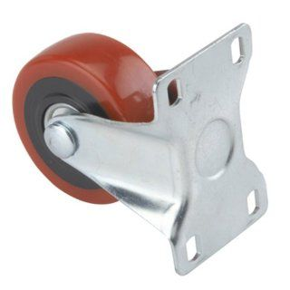 "3"" Caster, Non Locking, Non Swiveling with 4 Hole Mounting Plate, 4 1/4"" Tall"