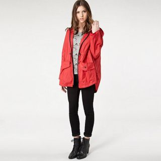 H by Henry Holland Red lightweight rain jacket