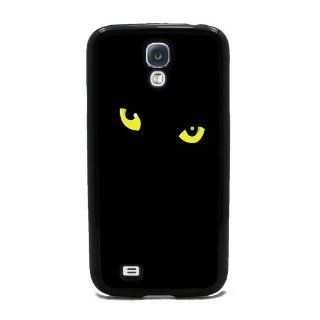 Black Cat Eyes   Samsung Galaxy S4 Cover, Cell Phone Case   Black Cell Phones & Accessories