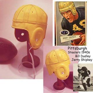 1940 Old Pittsburgh Steelers Yellow Leather Football Helmet  Sports & Outdoors