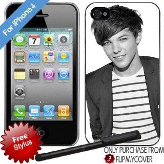 ONE DIRECTION Louis Tomlinson Black iPhone 4 4s Plastic Hard Phone Cover Case