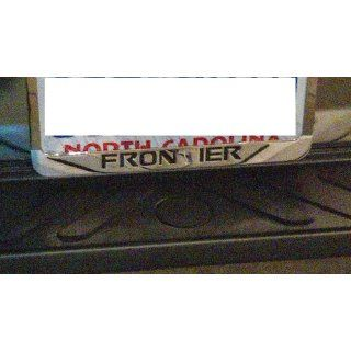 Nissan Frontier Chrome Metal License Plate Frame with Logo Screw Caps Automotive