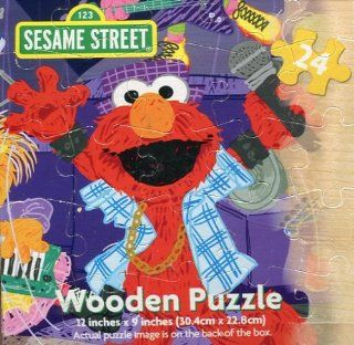 Wooden 24 Piece Sesame Street Puzzle (Elmo and Friends Band) Toys & Games