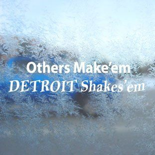 Others Make'em Detroit Shakes'em White Decal Diesel White Sticker   Themed Classroom Displays And Decoration