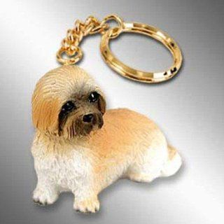 Lhasa Apso, Brown, Sport Cut Tiny Ones Dog Keychains (2 1/2 in)