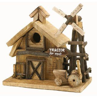 Gifts & Decor Barnyard Bird House Wood Decorative Barn Yard Bird House (Discontinued by Manufacturer)  Patio, Lawn & Garden