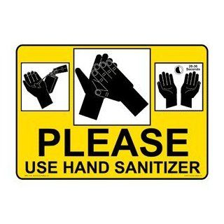 Please Use Hand Sanitizer Sign NHE 13138 Hand Washing  Business And Store Signs