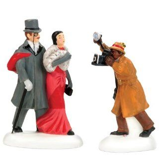 Department 56 Christmas In The City A Shot For Fans Please, Set of 2   Holiday Figurines
