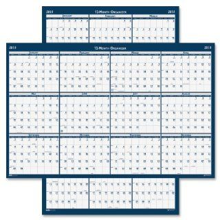 "House of Doolittle Laminated Poster Style Yearly Wall Calendar, January December, 2013, 24"" x 37"""