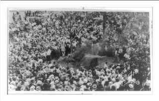 Historic Print (M) [Large crowd watching the lynching of an African American, possibly, Jesse Washington, i