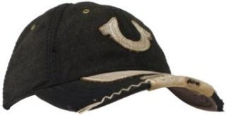 True Religion Men's Wool Baseball Cap with Horseshoe, Black, One Size at  Men�s Clothing store True Religion Hats