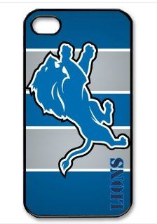 Detroit Lions Logo NFL HD image case cover for iphone 4/4S black A Nice Present Cell Phones & Accessories