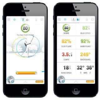 GolfSense 3D Golf Swing Analyzer for iPhone, iPad and Android, Black  Golf Swing Trainers  Sports & Outdoors