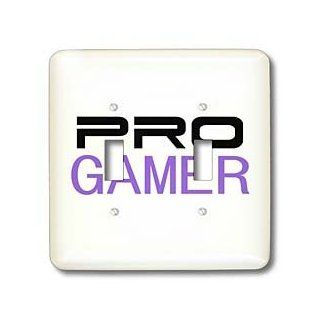 lsp_151243_2 InspirationzStore Typography   Pro gamer   awesome gaming job or hobby and proud of it   computer pro gamer in black and purple   Light Switch Covers   double toggle switch   Multi Switch Plates