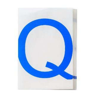 "Brady 121791 ToughStripe Die Cut Polyester Tape, Blue Letter ""Q"" Industrial Floor Warning Signs"