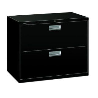"HON 600 Series Standard File Cabinet   36"" x 19.25"" x 28.38""   Steel   2 x File Drawer(s)   Legal, Letter   Interlocking, Leveling Glide, Ball bearing Suspension, Recessed Handle, Label Holder, Durable   Black"