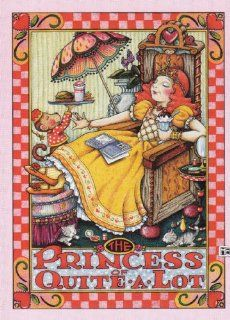 "Mary Engelbreit Note Cards Set of 8 Blank Notecards & 8 Envelopes ""The Princess of Quite a Lot"""