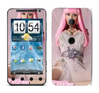 Meestick Nicki Minaj Pink Vinyl Adhesive Decal Skin for HTC Evo 3D Cell Phones & Accessories