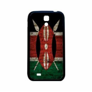 Kenya Brick Wall Flag Samsung Galaxy S4 Black Silcone Case   Provides Great Protection Cell Phones & Accessories