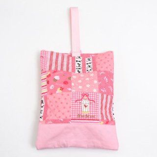 Cloth pattern made in Japan N3221000 of Kids shoes case put slippers, slipper bag quilting type Suite pink handmade sense (japan import) Toys & Games