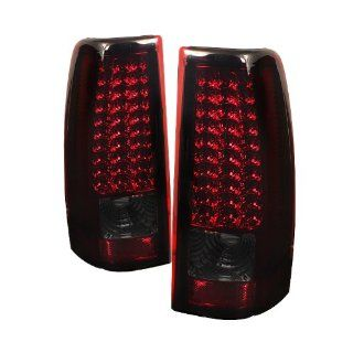Chevy Silverado 1500/2500/3500 03 06 (Do not fit 03 3500. Stepside. Barn Door) / GMC Sierra 1500/2500/3500 Fleetside 04 06 LED Tail Lights   Red Smoke Automotive