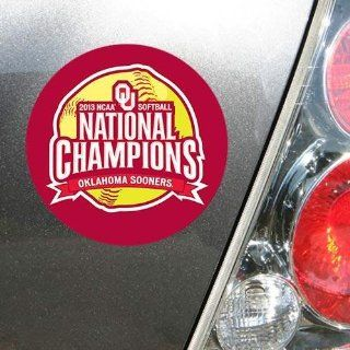Oklahoma Sooners 2013 NCAA Womens Softball College World Series Champions 4 x 6 Die Cut Magnet  Sports Fan Automotive Magnets  Sports & Outdoors