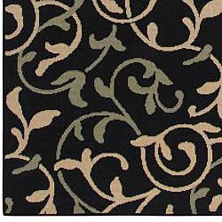 Cafe Collection Floral Indoor/Outdoor Rug (8'9 x 12'9) Surya 7x9   10x14 Rugs