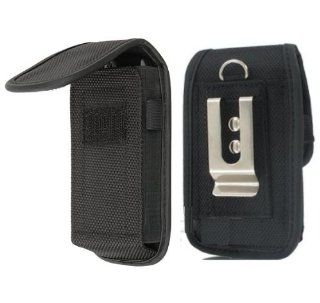 Ballistic Nylon METAL clip Heavy Duty Pouch Carrying Case Flip Top Cover w/ Belt Loop TIGHT fit Holster for HTC ONE X (NOTE the color of the metal clip may VARY chrome or black) {+ 1pc name tag}    Best Seller on