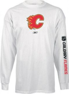 Calgary Flames Left Wing Long Sleeve T Shirt   X Large  Sports Related Merchandise  Clothing