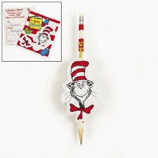 Dr Seuss&#8482 Reward Character Cards & Pencil Sets   Basic School Supplies & Pencils  Teaching Materials
