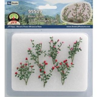 JTT Scenery Products Flowering Plants Rose Vines HO Scale Hobby Train Sceneries Toys & Games