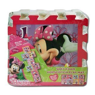 Features Disney'S Minnie Mouse And Daisy Duck   Disney Minnie Mouse Bow tique Soft Foam Hopscotch Play Mat Toys & Games